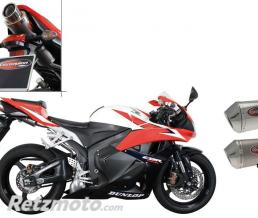 SCORPION SILENCIEUX SCORPION STEALTH OVAL INOX POUR HONDA