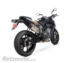 SCORPION Silencieux SCOPRION Serket Parallel inox/casquette ABS noir KTM Duke 790