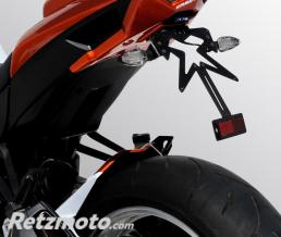 ERMAX SUPPORT DE PLAQUE ERMAX POUR Z 1000 2010 et 2012 ORANGE