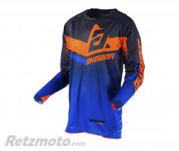 ANSWER Maillot ANSWER Trinity noir/cobalt/orange fluo taille L
