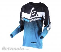 ANSWER Maillot ANSWER Trinity noir/Astana/blanc taille L