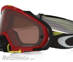 OAKLEY Masque OAKLEY Mayhem Pro Heritage Racer Bright Red écran Prizm MX Bronze