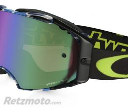 OAKLEY Masque OAKLEY Airbrake Chad Reed Signature Series Speed Stripe écran Prizm MX Jade Iridium