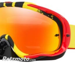 OAKLEY Masque OAKLEY Crowbar Pinned Race Yellow/Red écran Fire Iridium