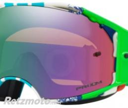 OAKLEY Masque OAKLEY Airbrake Pinned Race Blue/Green écran Prizm MX Jade Iridium