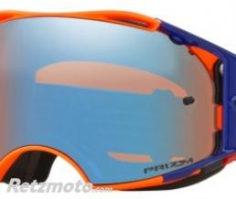 OAKLEY Masque OAKLEY Airbrake Orange Blue écran Prizm MX Sapphire Iridium