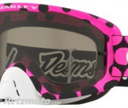 OAKLEY Masque OAKLEY O Frame 2.0 Troy Lee Designs Faded Dot Pink écran Dark Grey