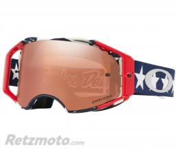 OAKLEY Masque OAKLEY Airbrake Troy Lee Designs Liberty RWB écran Prizm Black Irridium