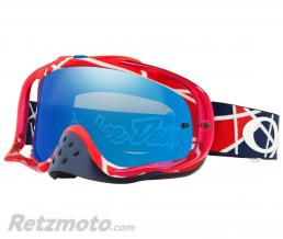 OAKLEY Masque OAKLEY Crowbar Troy Lee Designs Metric Red/White écran Black Ice Iridium