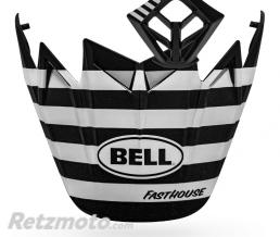 BELL  Kit MX BELL Moto-9 Flex Fasthouse Stripes noir/blanc