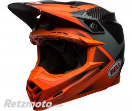 BELL  Casque BELL Moto-9 Flex Gloss/Matte Orange/Charcoal Hound taille L