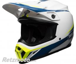 BELL  Casque BELL MX-9 MIPS Gloss White/Blue/Yellow Torch taille L