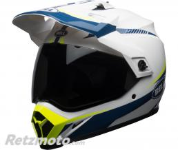 Casque BELL MX-9 Adventure MIPS Gloss White/Blue/Yellow Torch taille XS