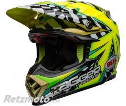 BELL  Casque BELL Moto-9 Flex Tagger Mayhem Gloss Green/Black/White taille XL