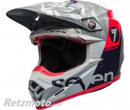 BELL  Casque BELL Moto-9 Flex Seven Zone Gloss Navy/Coral taille XL