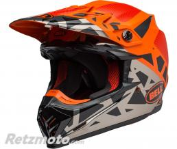 BELL  Casque BELL Moto-9 MIPS Tremor Matte/Gloss Black/Orange/Chrome taille L