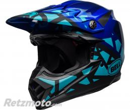BELL  Casque BELL Moto-9 MIPS Tremor Matte/Gloss Blue/Black taille L
