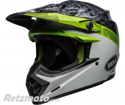 BELL  Casque BELL Moto-9 MIPS Chief Matte/Gloss Black/White/Green taille M
