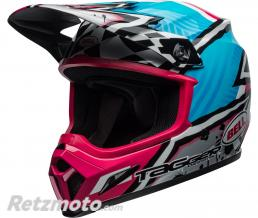 BELL  Casque BELL MX-9 MIPS Tagger Asymmetric Gloss Blue/Pink taille XXL