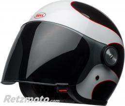 BELL  Casque BELL Riot Gloss White/Black/Red Boost taille M