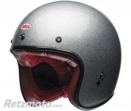 BELL  Casque BELL Custom 500 Gloss Silver Flake taille XXL