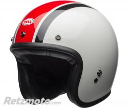 BELL  Casque BELL Custom 500 Ace Café Stadium Gloss Silver/Red/Black taille L