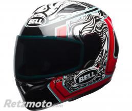 BELL  Casque BELL Qualifier Gloss Tagger White/Black/Red Splice taille XL