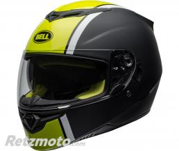 BELL  Casque BELL RS-2 Rally Gloss Black/White Hi-Viz Yellow taille XL