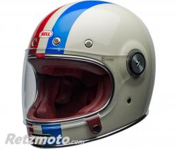 BELL  Casque BELL Bullitt DLX Command Gloss Vintage White/Red/Blue taille M
