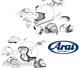 ARAI Kit fixation Arai Diamond Black noir casque jet SZ-Ram 3 - Super AdSis ZR - SZ-Ram 4 - Super AdSis ZF - SZ/F - SZ-Light - LRS