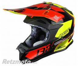 JUST1 Casque JUST1 J32 Pro Kick Black/Red/Yellow Gloss taille XS