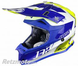 JUST1 Casque JUST1 J32 Pro Kick White/Blue/Yellow Gloss taille XL