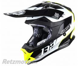 JUST1 Casque JUST1 J32 Pro Kick White/Yellow/Black Gloss taille S