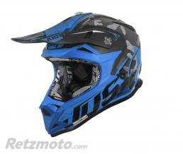 JUST1 Casque JUST1 J32 Pro Swat Camo Fluo Blue Gloss taille M