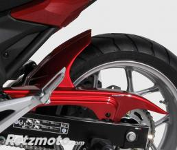 GARDE BOUE AR ERMAX POUR NC 750 X 2016 ROUGE METAL(candy arcadian)