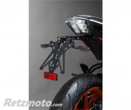 LIGHTECH Support de plaque réglable LIGHTECH noir KTM 390 Duke