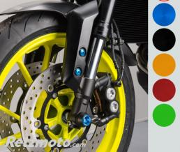 LIGHTECH Protection fourche et bras oscillant (axe de roue) LIGHTECH titane Yamaha MT-09