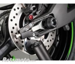LIGHTECH Protections fourche et bras oscillant (axe de roue) LIGHTECH noir Kawasaki ZX10R - ARKA102NER