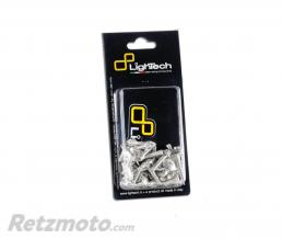 LIGHTECH Kit vis de carénage LIGHTECH argent alu (40 pièces) Aprilia Tuono V4