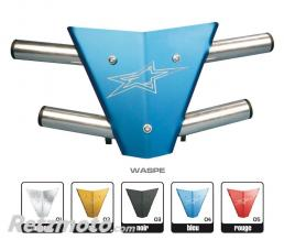 CROSS PRO BUMPER CROSSPRO WASPE PLAQUE AVANT ARGENT POUR QUAD CAN-AM
