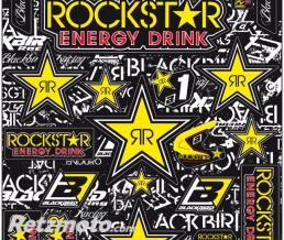 BLACKBIRD Planche de stickers BLACKBIRD Rockstar Energy