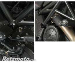 R&G Tampons de protection R&G RACING Aero noir Ducati Diavel
