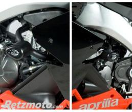 R&G Tampons de protection R&G RACING Aero noir Aprilia RS4 125