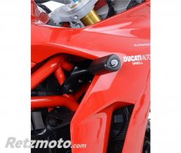 R&G Tampons de protection R&G RACING Aero noir sans percage Ducati Supersport