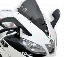 ERMAX BULLE AEROMAX 37 CM ERMAX POUR RSV4 R/FACTORY (+ KIT FIX) 2009/2014 marron transparent CLAIR