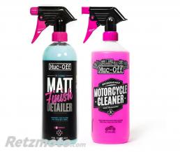 MUC-OFF Kit entretien MUC-OFF Twin Pack Nettoyant Moto 1L + Matt Finish 750ml