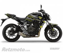 KUTVEK KIT DÉCO MOTO NIGHT YAMAHA MT 07 NOIR JAUNE