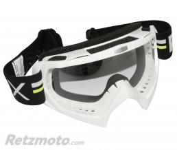 ADX LUNETTE-MASQUE CROSS ADX MX BLANC ECRAN TRANSPARENT ANTI-RAYURES