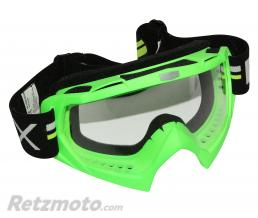 ADX LUNETTE-MASQUE CROSS ADX MX VERT FLUO ECRAN TRANSPARENT ANTI-RAYURES