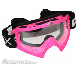 ADX LUNETTE-MASQUE CROSS ADX MX ROSE FLUO ECRAN TRANSPARENT ANTI-RAYURES